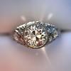 1.56ctw Art Deco Old European Cut Diamond Bezel Ring, GIA E SI1 37