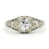 1.56ctw Art Deco Old European Cut Diamond Bezel Ring, GIA E SI1 0