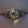 1.56ctw Art Deco Old European Cut Diamond Bezel Ring, GIA E SI1 33