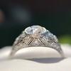 1.56ctw Art Deco Old European Cut Diamond Bezel Ring, GIA E SI1 26