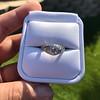 1.56ctw Art Deco Old European Cut Diamond Bezel Ring, GIA E SI1 19