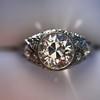 1.56ctw Art Deco Old European Cut Diamond Bezel Ring, GIA E SI1 23