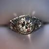 1.56ctw Art Deco Old European Cut Diamond Bezel Ring, GIA E SI1 29