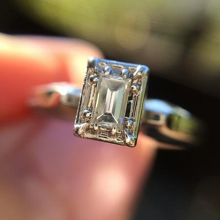 .15ct Baguette Diamond Illusion Solitaire