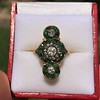 1.62ctw Vintage Emerald and Old European Cut Dinner Ring 16