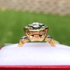 1.62ctw Vintage Emerald and Old European Cut Dinner Ring 8