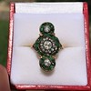 1.62ctw Vintage Emerald and Old European Cut Dinner Ring 15