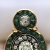 1.62ctw Vintage Emerald and Old European Cut Dinner Ring 22