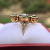 1.62ctw Vintage Emerald and Old European Cut Dinner Ring 18