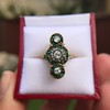 1.62ctw Vintage Emerald and Old European Cut Dinner Ring 19