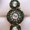1.62ctw Vintage Emerald and Old European Cut Dinner Ring 23