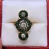 1.62ctw Vintage Emerald and Old European Cut Dinner Ring 11