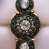 1.62ctw Vintage Emerald and Old European Cut Dinner Ring 20