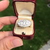 1.64ctw Vintage Princess Style Oval Cluster Ring 18