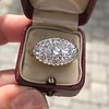 1.64ctw Vintage Princess Style Oval Cluster Ring 10