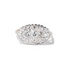 1.64ctw Vintage Princess Style Oval Cluster Ring 0