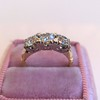 1.65ctw Old Mine Cut Diamond 3-Stone Ring 3