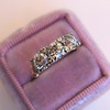 1.65ctw Old Mine Cut Diamond 3-Stone Ring 6
