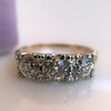 1.65ctw Old Mine Cut Diamond 3-Stone Ring 5