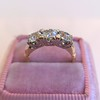 1.65ctw Old Mine Cut Diamond 3-Stone Ring 2