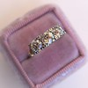 1.65ctw Old Mine Cut Diamond 3-Stone Ring 9