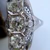 1.65ctw Art Deco Old Cut European Cut Diamond Dinner Ring 19