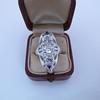 1.65ctw Art Deco Old Cut European Cut Diamond Dinner Ring 24