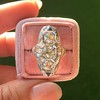 1.65ctw Art Deco Old Cut European Cut Diamond Dinner Ring 9