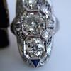 1.65ctw Art Deco Old Cut European Cut Diamond Dinner Ring 18