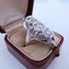 1.65ctw Art Deco Old Cut European Cut Diamond Dinner Ring 7