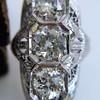 1.65ctw Art Deco Old Cut European Cut Diamond Dinner Ring 17