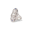 1.65ctw Art Deco Old Cut European Cut Diamond Dinner Ring 1