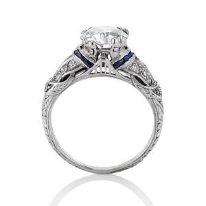 1.66ctw Edwardian Old European Cut Ring