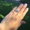 1.70ctw Old European Cut Diamond Art Deco 3-Stone Ring, GIA F 28