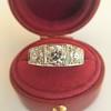 1.70ctw Old European Cut Diamond Art Deco 3-Stone Ring, GIA F 16