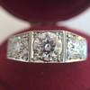 1.70ctw Old European Cut Diamond Art Deco 3-Stone Ring, GIA F 14