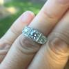 1.70ctw Old European Cut Diamond Art Deco 3-Stone Ring, GIA F 26
