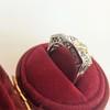 1.70ctw Old European Cut Diamond Art Deco 3-Stone Ring, GIA F 11