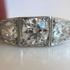 1.70ctw Old European Cut Diamond Art Deco 3-Stone Ring, GIA F 32