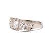 1.70ctw Old European Cut Diamond Art Deco 3-Stone Ring, GIA F 1