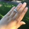 1.70ctw Old European Cut Diamond Art Deco 3-Stone Ring, GIA F 9
