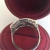 1.70ctw Old European Cut Diamond Art Deco 3-Stone Ring, GIA F 7