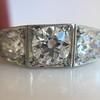 1.70ctw Old European Cut Diamond Art Deco 3-Stone Ring, GIA F 33