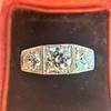 1.70ctw Old European Cut Diamond Art Deco 3-Stone Ring, GIA F 19
