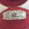 1.70ctw Old European Cut Diamond Art Deco 3-Stone Ring, GIA F 5