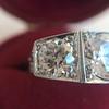 1.70ctw Old European Cut Diamond Art Deco 3-Stone Ring, GIA F 12