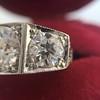 1.70ctw Old European Cut Diamond Art Deco 3-Stone Ring, GIA F 13