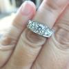 1.70ctw Old European Cut Diamond Art Deco 3-Stone Ring, GIA F 10