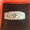 1.70ctw Old European Cut Diamond Art Deco 3-Stone Ring, GIA F 18