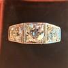1.70ctw Old European Cut Diamond Art Deco 3-Stone Ring, GIA F 17